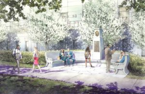 Artist's depiction of planned site to honor Eleanor Holmes Norton. (Rendering by Jeff Stikeman for Robert A.M. Stern Architects.)