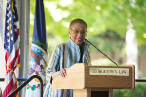 Congresswoman and Professor Emerita Eleanor Holmes Norton.