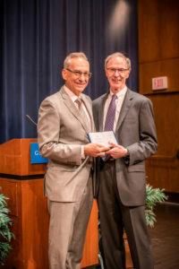 Professor Randy Barnett with Harvard Law Professor Richard Fallon, this year's winner of the Cooley Prize.