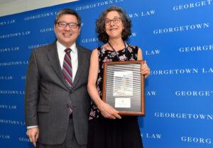 Associate Dean Paul Ohm with Adjunct Professor Dori Bernstein.