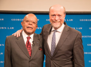 Henry Louis Gates Jr. and Georgetown Law Dean William M. Treanor.