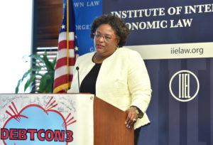 Keynote Speaker Mia Amor Mottley, Prime Minister of Barbados.