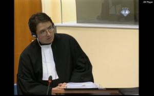 Arthur Traldi (L'06) serving as a prosecutor as The Hague.