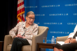 U.S. Supreme Court Justice Ruth Bader Ginsburg speaks at 'A Legacy of Gender Equality' in Hart Auditorium on July 2.
