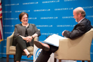 Justice Elena Kagan with Dean William M. Treanor.