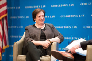 Supreme Court Justice Elena Kagan came to Georgetown Law's Hart Auditorium on July 18. The event was sponsored by the Washington Council of Lawyers.
