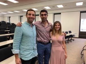 Juan Pablo Obaid, Rohit Doad and Mariella Pirozzi (LL.M.'20).