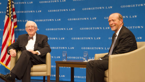 Georgetown Law Dean William M  Treanor Remembers Retired
