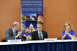On Tuesday, September 10, the Georgetown Climate Center welcomed technologist, investor, and philanthropist Bill Gates to Georgetown Law for a discussion with a panel of leaders from academia, civil society, finance, industry, policy, and technology.
