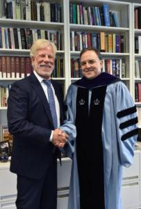 Scott K. Ginsburg (L'78) and Professor Carlos Vazquez.