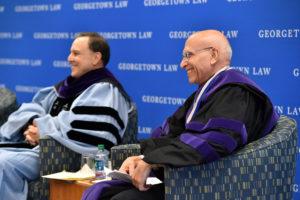 Professor Carlos Vazquez and Professor David Luban.