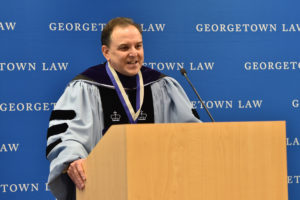 Professor Carlos Vazquez is installed as the second Scott K. Ginsburg Professor of Law.