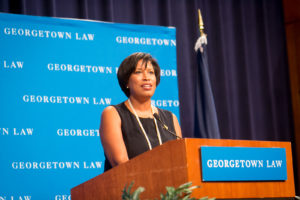 D.C. Mayor Muriel Bowser delivered the 2019-2020 Philip A. Hart Memorial Lecture on September 4.