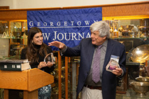 Paul R. Dean Awardee Don Burris (L'69) was also honored at a Georgetown Law Journal event during Reunion Weekend 2019.