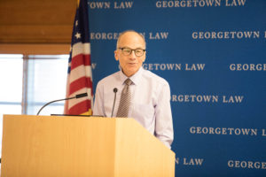 University Professor Lawrence Gostin, the founding faculty director of Georgetown Law's O'Neill Institute for National and Global Health Law, was honored at the Georgetown Law Journal symposium on October 14.