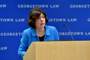 Professor Edith Brown Weiss speaks at the Georgetown Environmental Law Review symposium recognizing her scholarship and legacy.