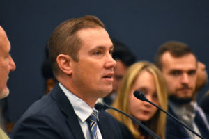 """Professor Shon Hopwood testified on the Hill in October regarding """"Prison to Proprietorship: Entrepreneurship Opportunities for the Formerly Incarcerated."""""""