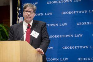 Professor Matt Blaze at the podium