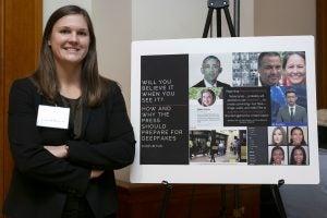 Lauren Renaud with her winning presentation
