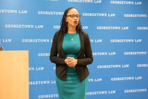 Fordham Law Professor Robin Lenhardt's lecture was part of a series held around the launch of Georgetown University's Institute for Racial Justice.