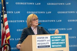 U.S. Senator Maggie Hassan speaks at Center on Poverty event
