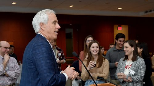 Director Stephen P. Hills welcomes newly accepted students to Cohort 3, January 2020