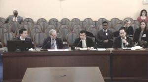 Student Jordan Foley testifying