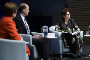 Professor Anna Gelpern moderated a February panel between World Bank Group President David Malpass and IMF Managing Director Kristalina Georgieva.