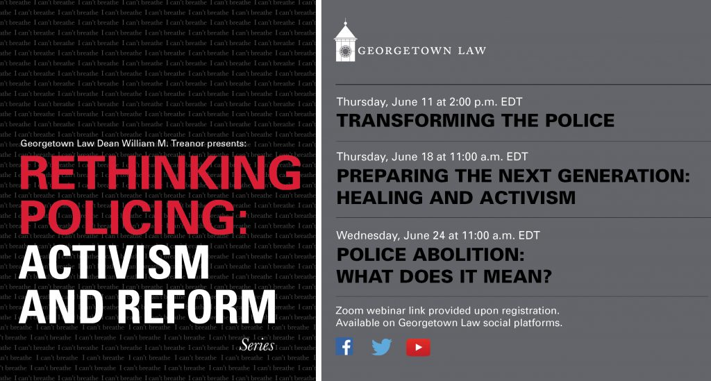 Banner for Rethinking Policing Series