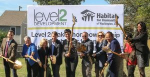 Mayor Muriel Bowser and nonprofit housing developers break ground for new affordable housing