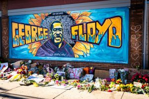 A mural outside Cup Foods in Minneapolis where George Floyd was murdered.