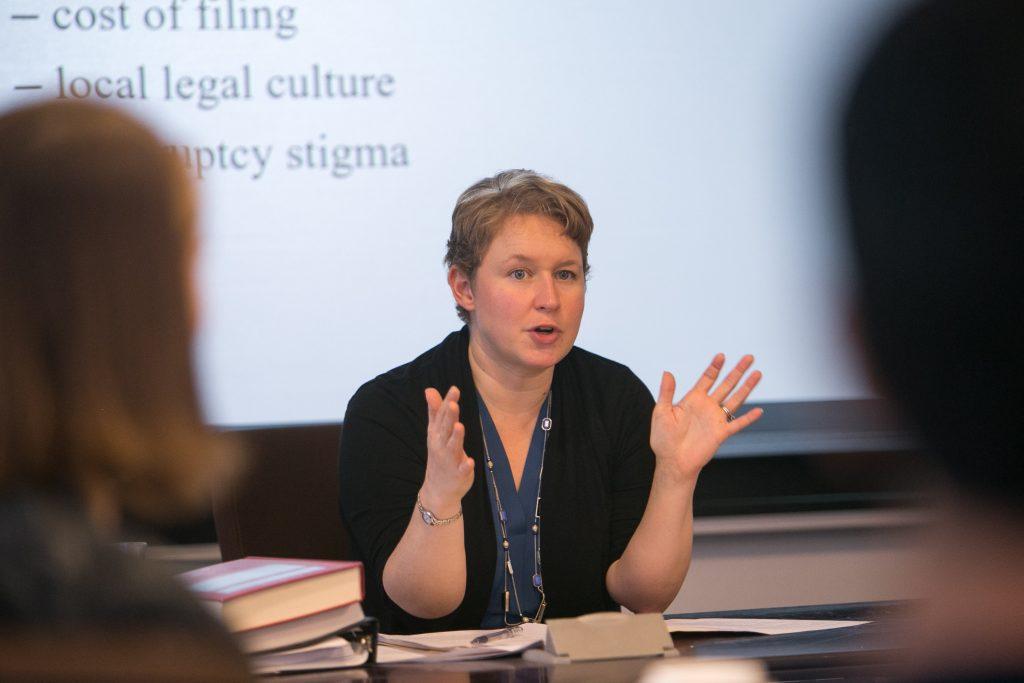 Professor Anne Fleming teaching a class