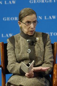 Ruth Bader Ginsburg at the 2008 event at Georgetown Law.