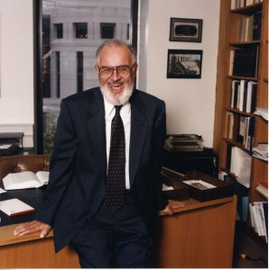 Dean McCarthy in his office.