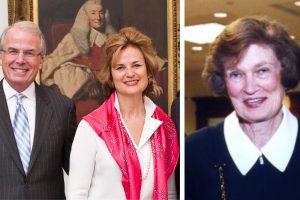 Timothy O'Neill (L'77), Linda O'Neill (N'77) and Agnes N. Williams (L'54).