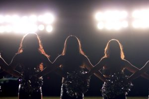 "Image from the documentary ""A Woman's Work: The NFL's Cheerleader Problem."""