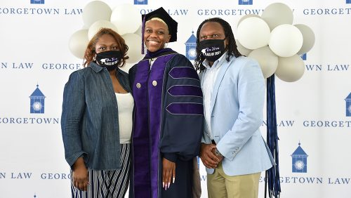 Family members gather for BLSA graduation ceremony.