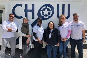 The Chow team: Jordan Foley (CEO, Navy active duty), Noor Khaleel (Fellow, Army military spouse), Sonya Alvelo (Fellow, Army veteran), Rosa Kimble (Fellow, Air Force military spouse), Martha Labadie (Fellow, Air Force military spouse), Charlie Magovern (COO).