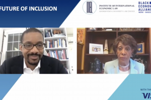 IIEL Faculty Director Chris Brummer and Congresswoman Maxine Waters (D-CA).