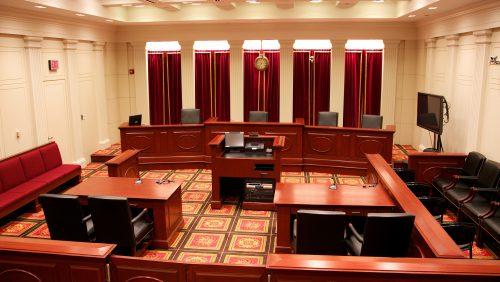Supreme Court Institute Moot Court Room