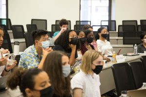 Georgetown Law incoming students attend a RISE pre-orientation class.