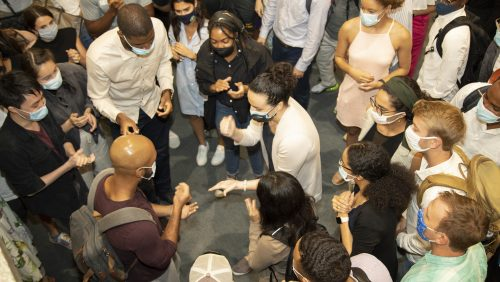 At Game Night, RISE students bond over a fierce Rock-Paper-Scissors battle.