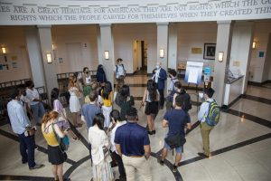 Tours of the Edward Bennett Williams Law Library were a popular orientation week activity.