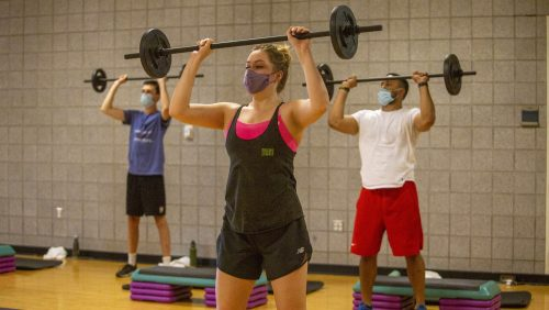 New students had the chance to try out classes in the Scott K. Ginsburg Sport & Fitness Center.