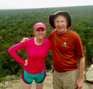 Andy Parker on a hike with his daughter Alison.