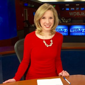 Alison Parker at the news station.