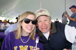 Alison Parker with her father Andy Parker.